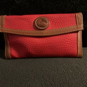 Vintage Dooney and Bourke leather wallet